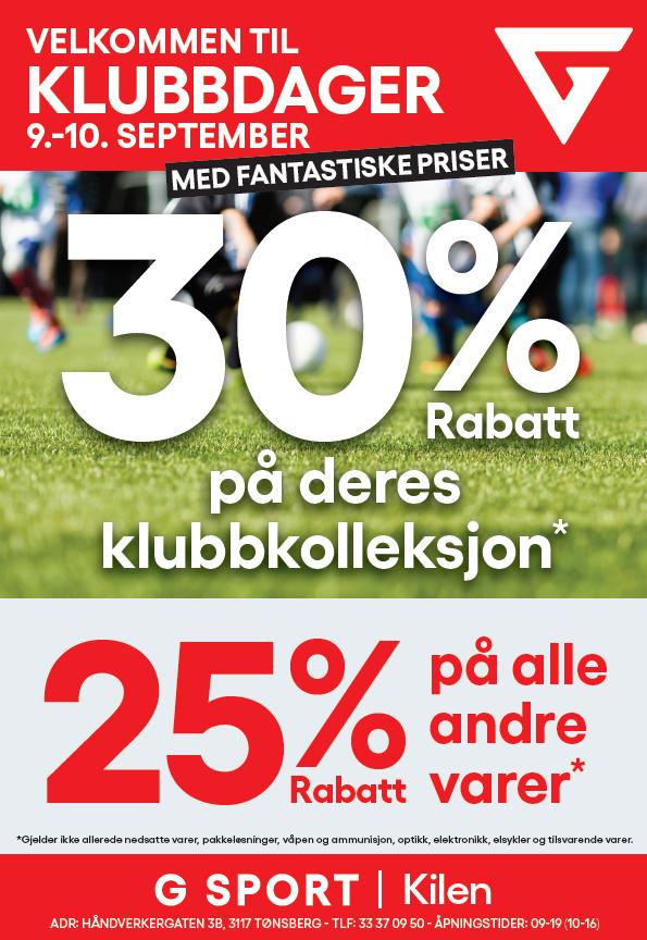Klubbdager 9-10sepbember2019